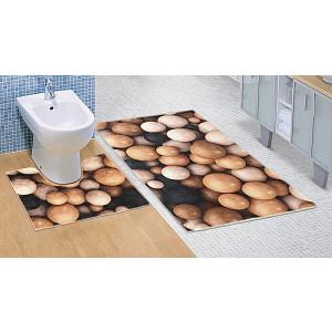 Koupelnová a WC předložka Dřevěné koule 3D
