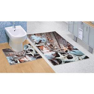 Koupelnová a WC předložka Mořské lastury 3D