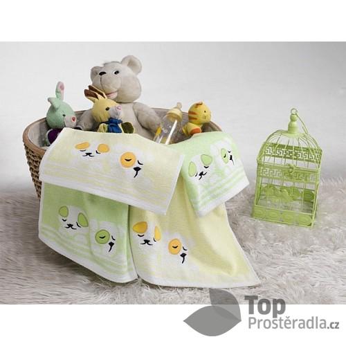 Dětský froté ručníček PEJSEK Žlutý 30x50