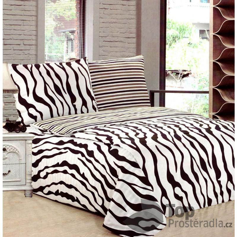 TP Francouzské povlečení 220x200 70x90 Zebra Bavlna