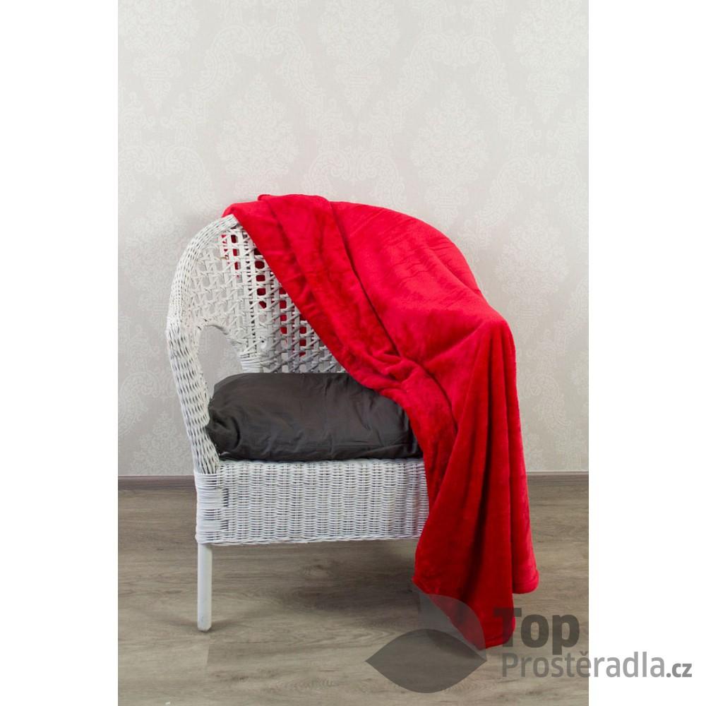 Levně TP Jemná deka 150x200 Červená Mikrovlákno