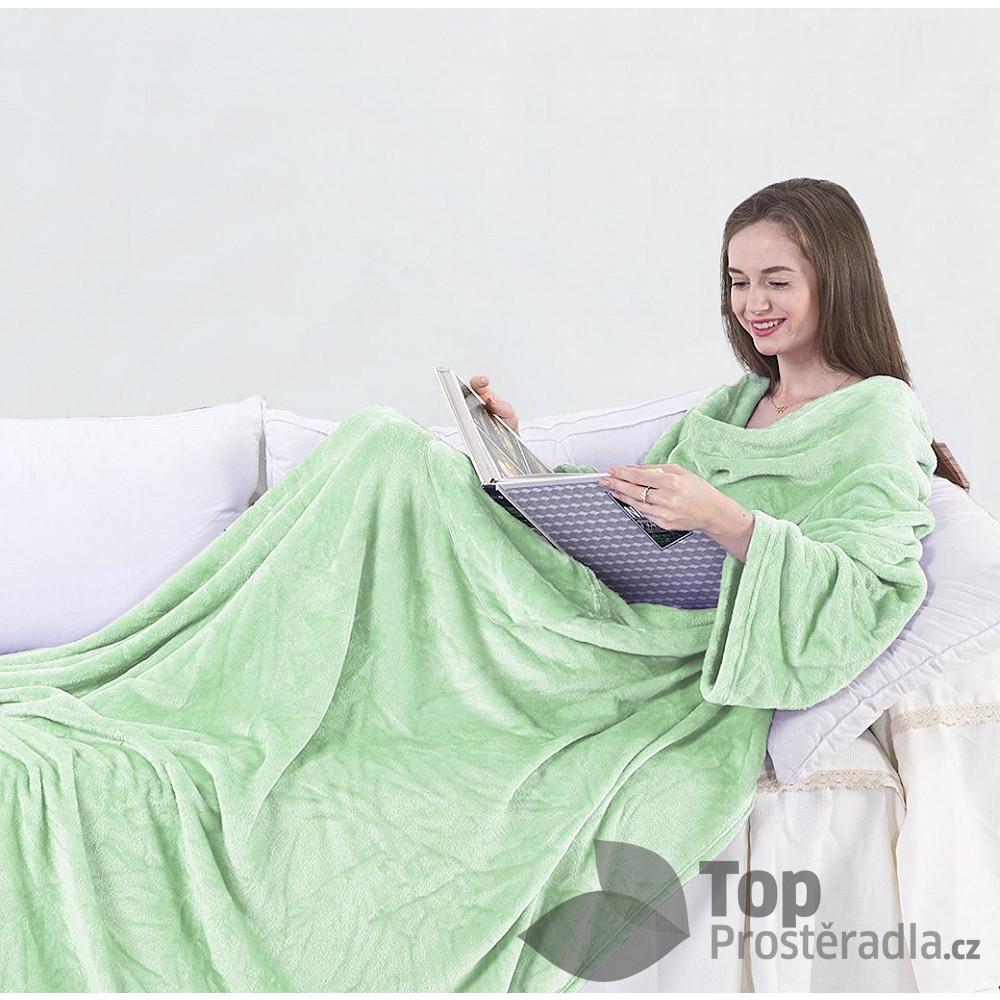 TOP Mikroflanelová televizní deka Lazy 150x180 - Peprmint
