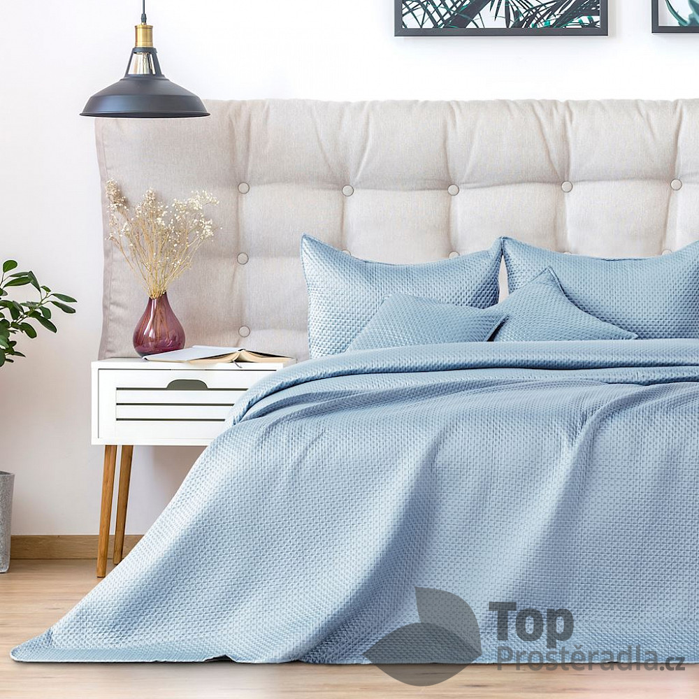 TOP Dekorační přehoz na postel CARMEN 240x260 - Světle šedý