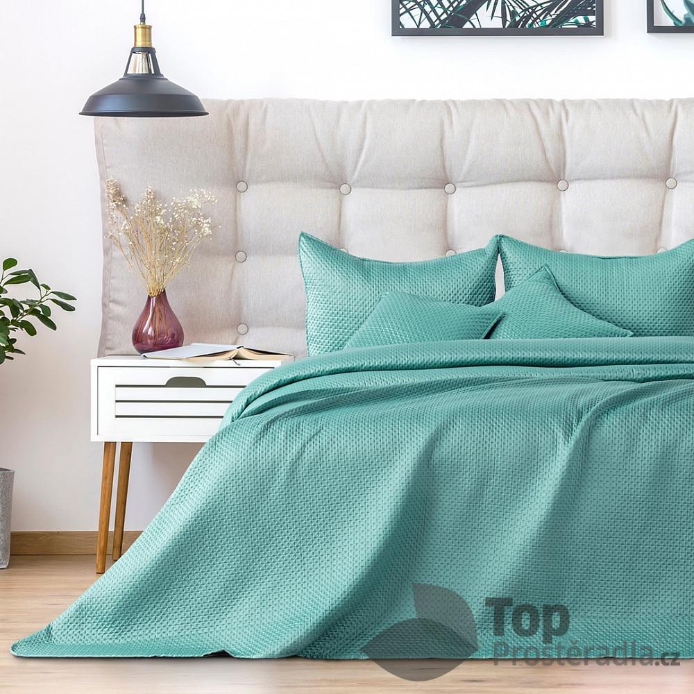 TOP Dekorační přehoz na postel CARMEN 240x260 - Pistáciový