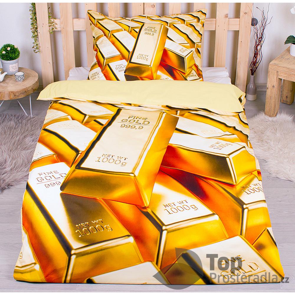 TP 3D povlečení 140x200 + 70x90 - Gold