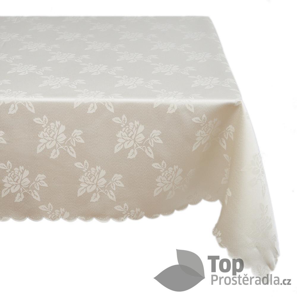 Levně TOP Ubrus s jemným vzorem 90x90 s ornamenty - Krémový