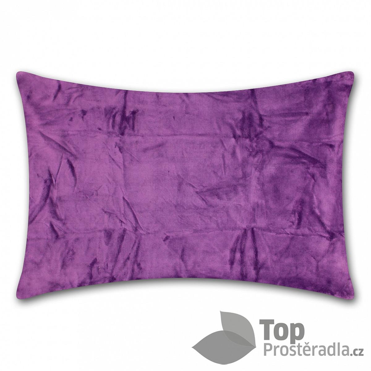 Levně TP Povlak na polštář mikroflanel 50x70 Tmavě fialový