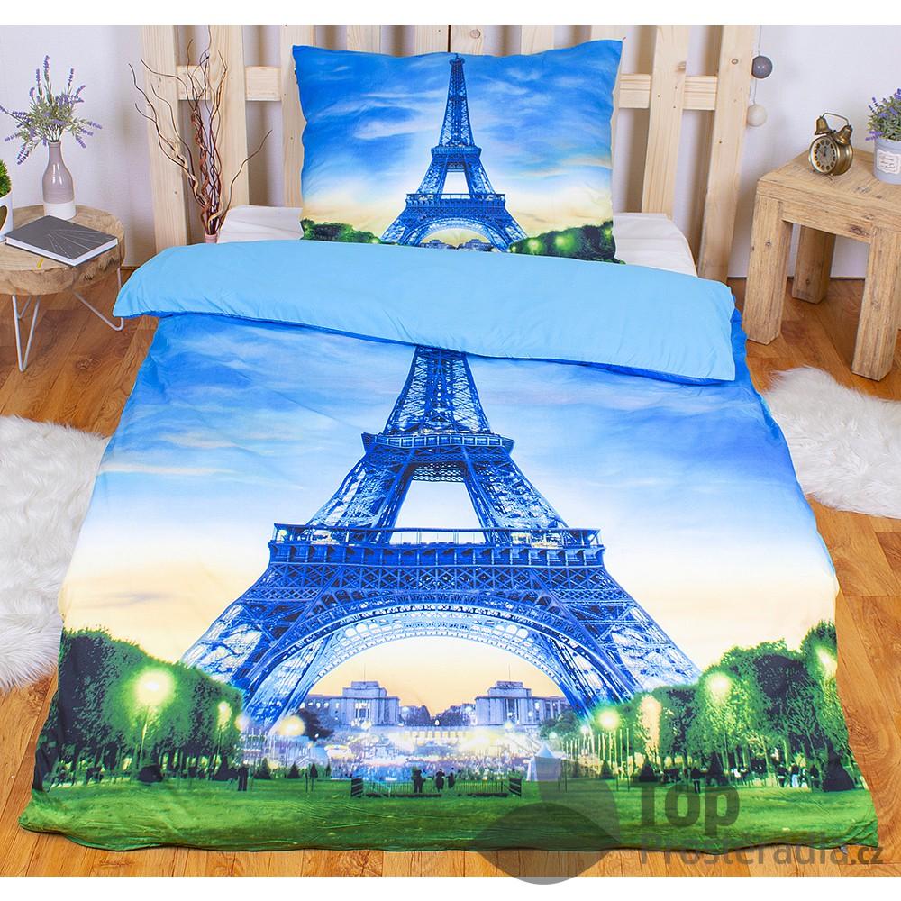 TP 3D povlečení 140x200 + 70x90 - Eiffel