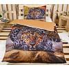 3D povlečení 140x200 + 70x90 - Leopard
