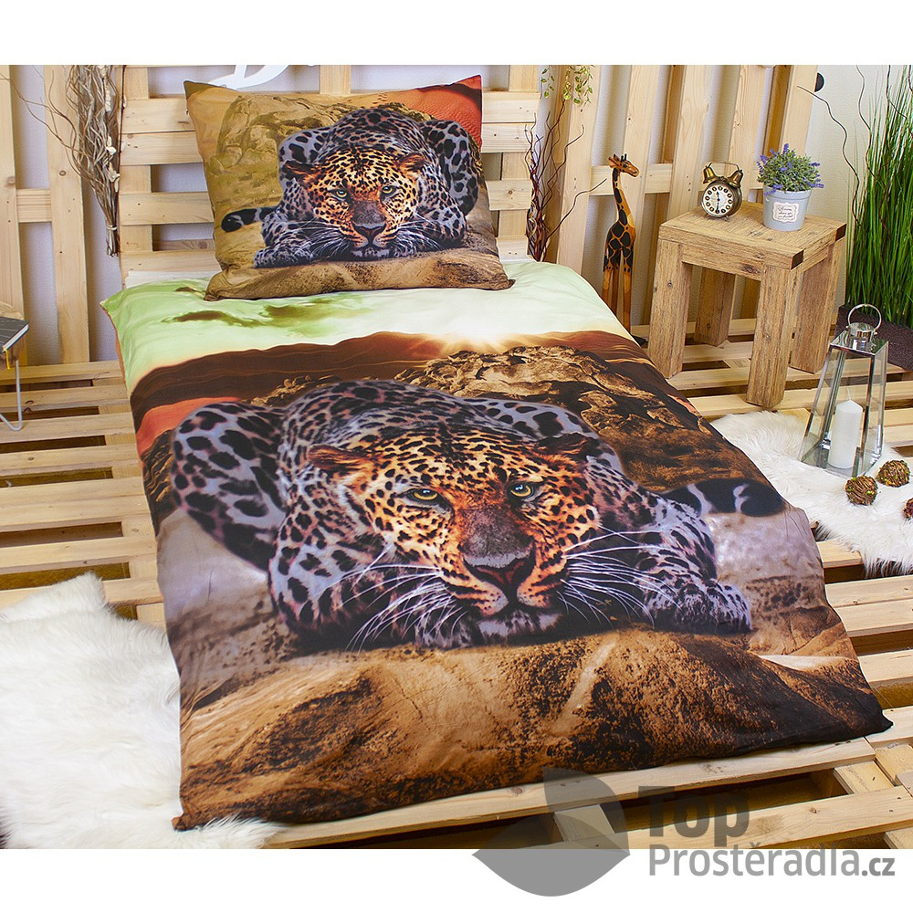 Apex 3D povlečení 140x200 70x90 Leopard