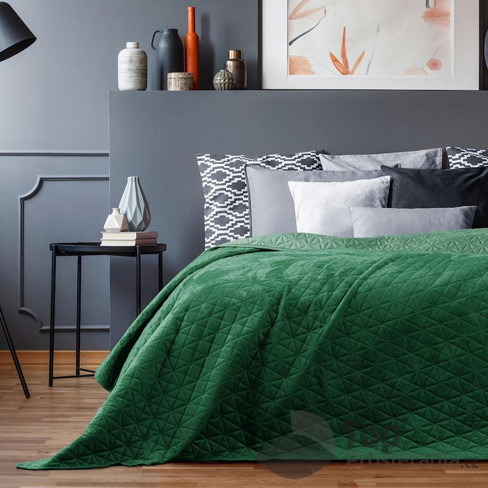 Levně TOP Dekorační přehoz na postel LAILA 240x260 - Zelený