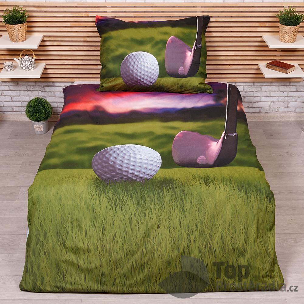 Levně TOP 3D povlečení 140x200+70x90 Golf