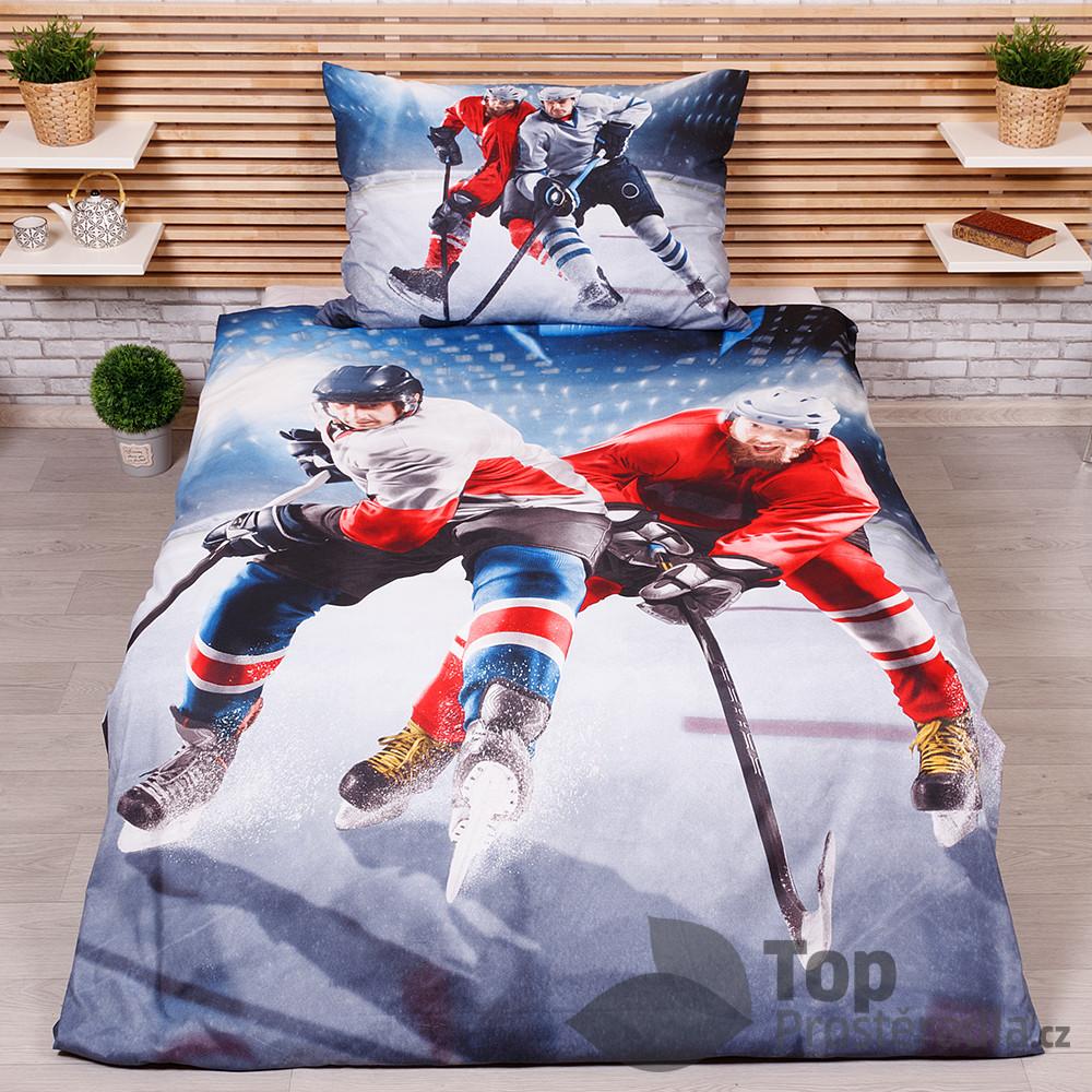 TP 3D povlečení 140x200+70x90 - Hokej