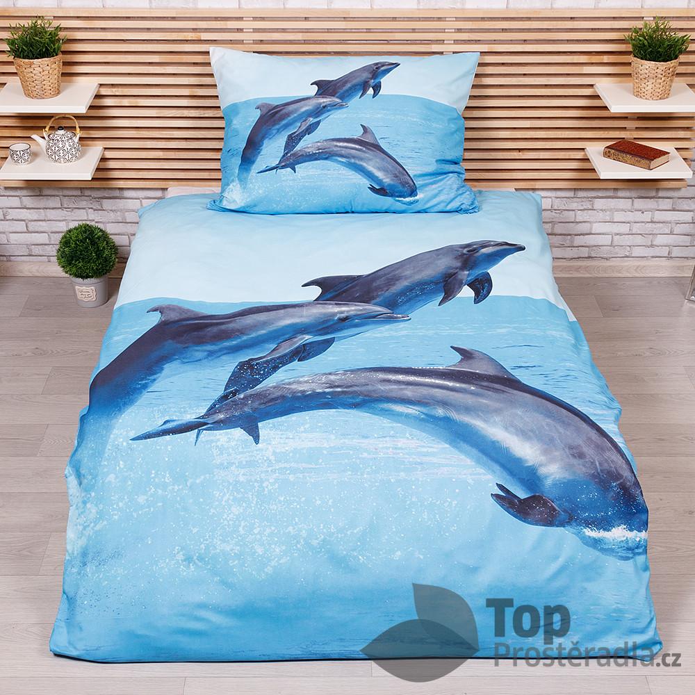 TP 3D povlečení 140x200+70x90 - Dolphins