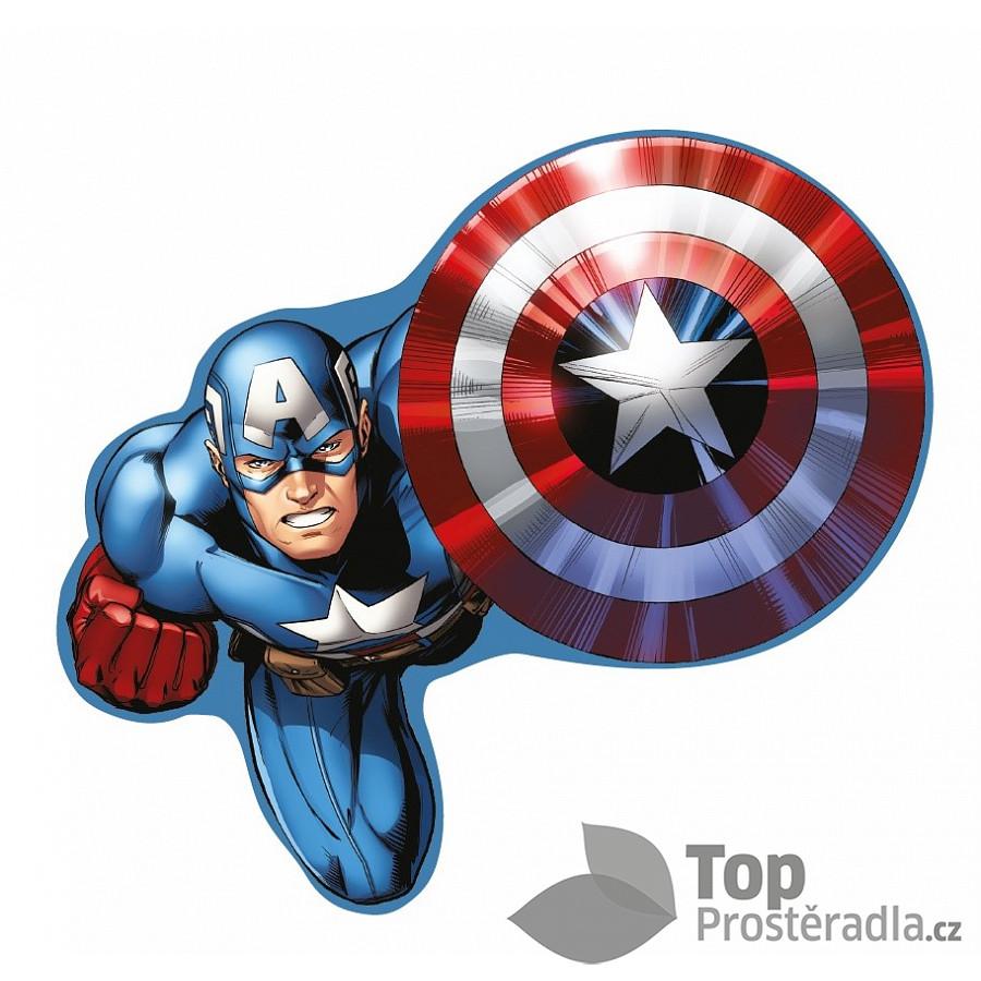 TOP Tvarovaný polštářek - Captain America