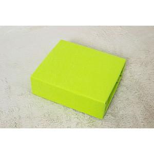 Jersey prostěradlo do postýlky (60 x 120) Premium - Májová zelená