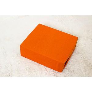 Jersey prostěradlo do postýlky (60 x 120) Premium - Oranžová