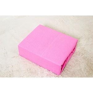Jersey prostěradlo do postýlky (60 x 120) Premium - Růžová