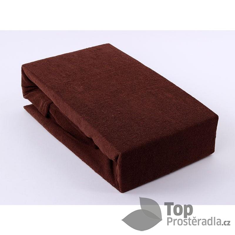 TP Froté prostěradlo Premium 190g/m2 140x200 Tmavě hnědá