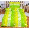Bavlněné povlečení 140x200+70x90 - Zelené bubliny
