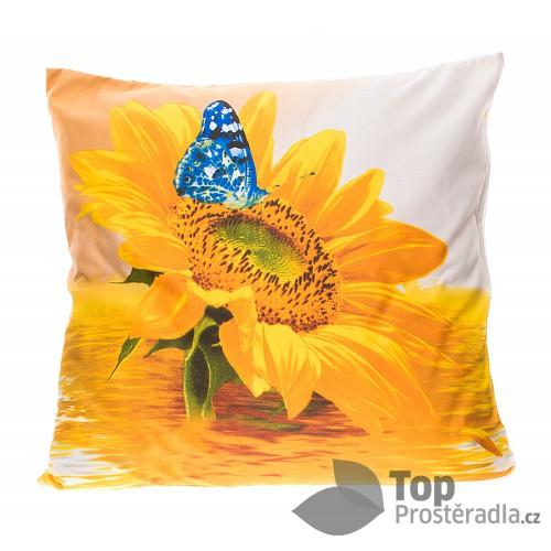 3D povlak 45x45 - Slunečnice