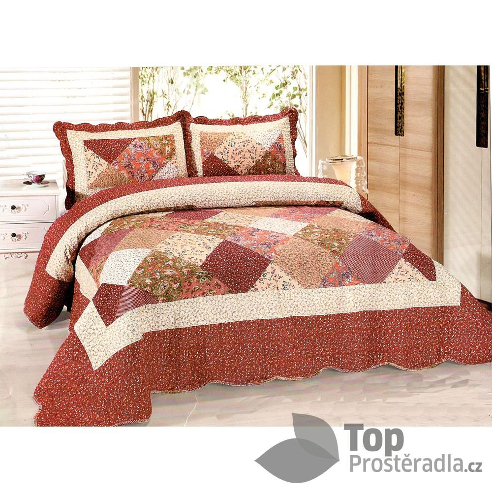 276a214faa7f Přehoz na postel s povlaky na polštářky 230x250 + 2x50x70 Provence ...