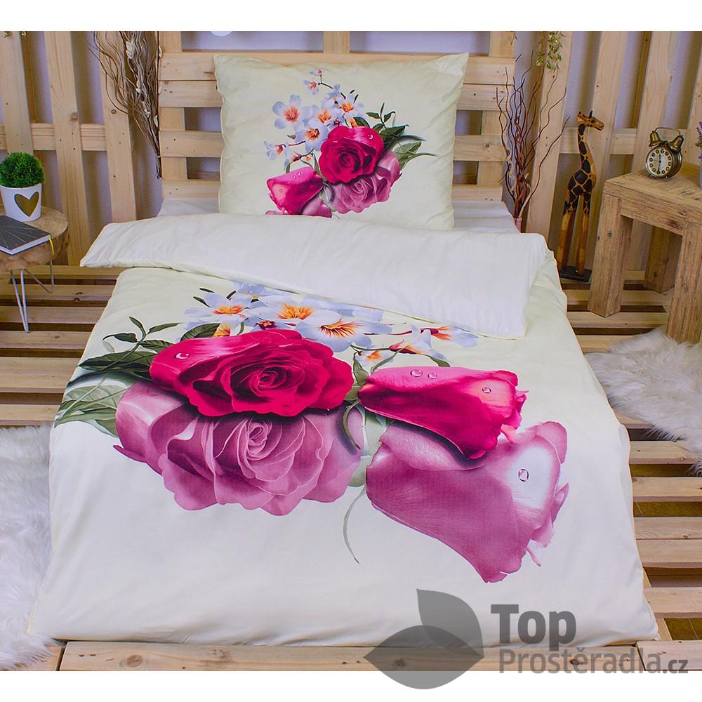 3D povlečení 140x200 + 70x90 - Romantika
