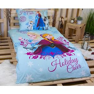 Dětské bavlněné povlečení 140x200+70x90 Frozen Holiday Cheer