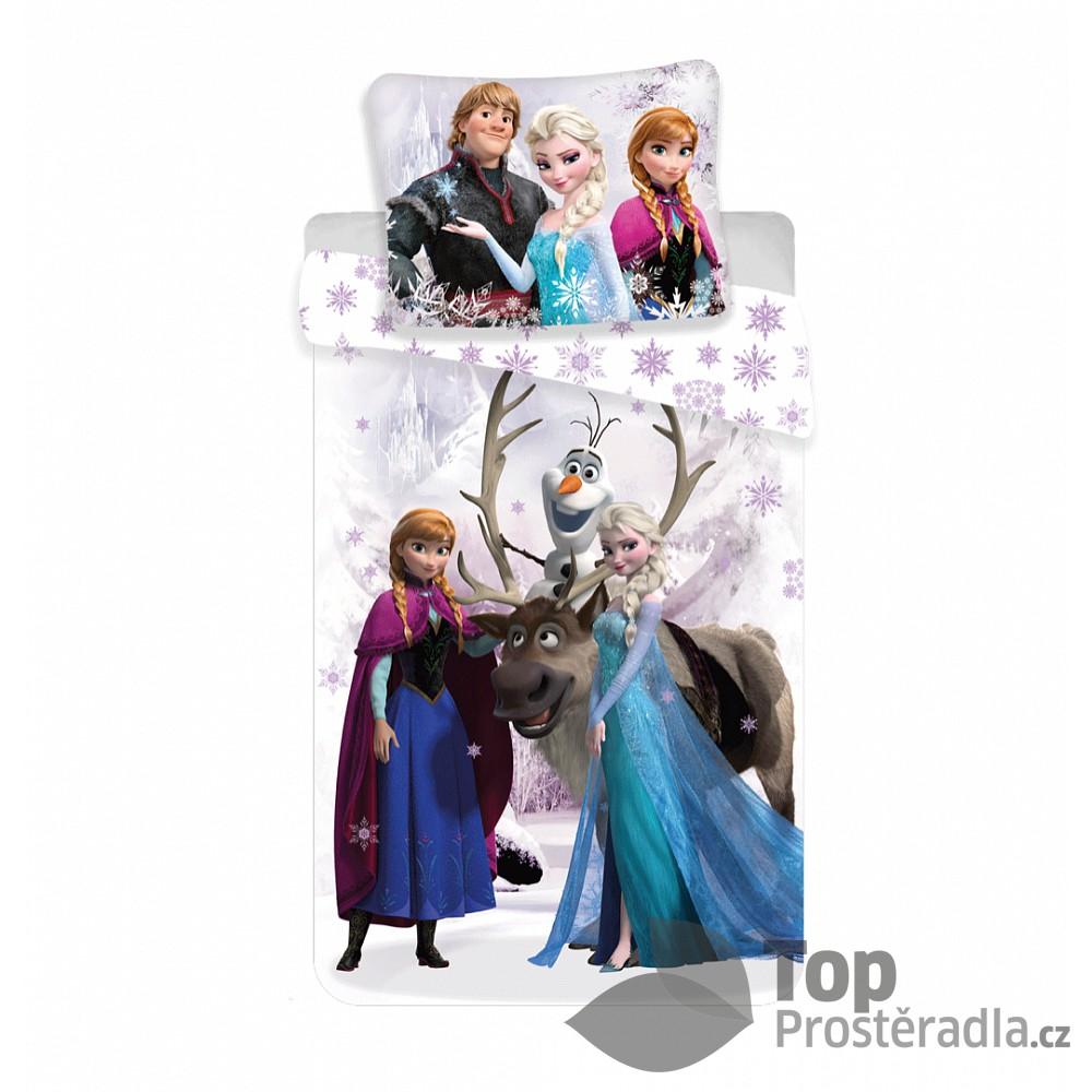 Dětské povlečení z mikrovlákna 140x200 70x90 Frozen ICE