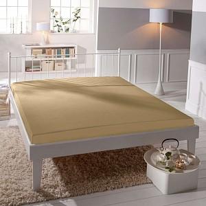 Jersey prostěradlo (220 x 200) Premium - Béžová