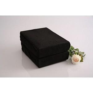 Froté prostěradlo (220 x 200) Premium - Černá