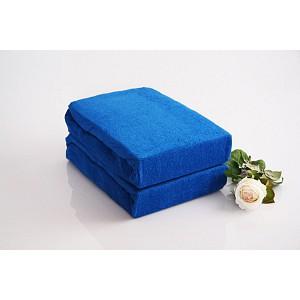 Froté prostěradlo (220 x 200) Premium - Modrá