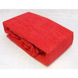 Froté prostěradlo (160 x 200) Premium - Červená