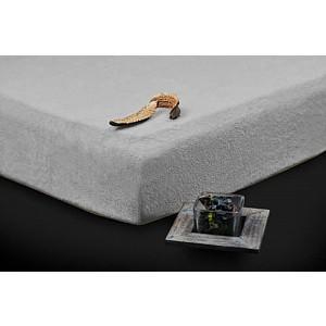 Froté prostěradlo (160 x 200) Premium - Šedá