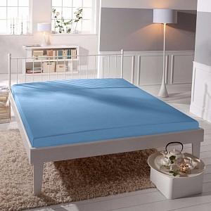 Jersey prostěradlo (140 x 200) Premium - Nebeská modř