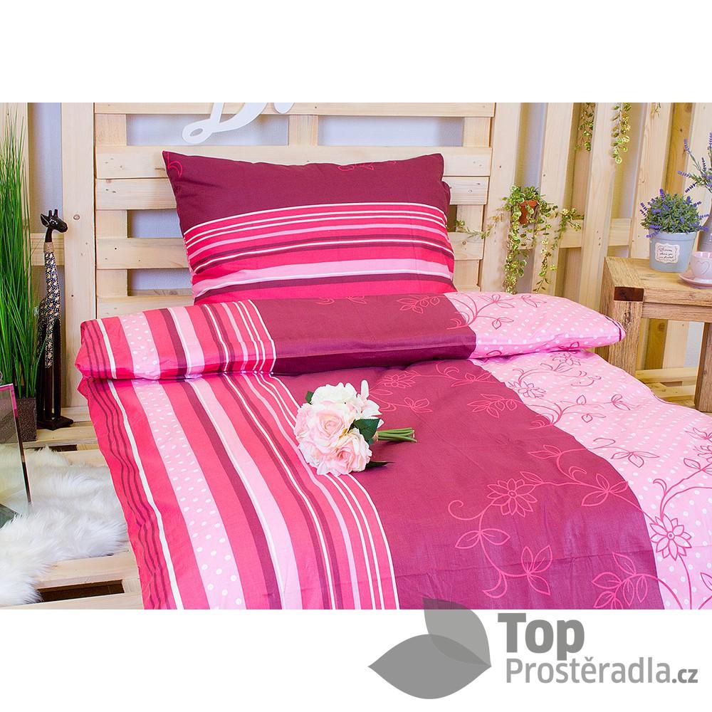 TP Bavlněné povlečení 140x200 70x90 Vínové květy