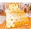 Povlečení mikroflanel Millenium 140x200 + 70x90 - Oranžové spirály