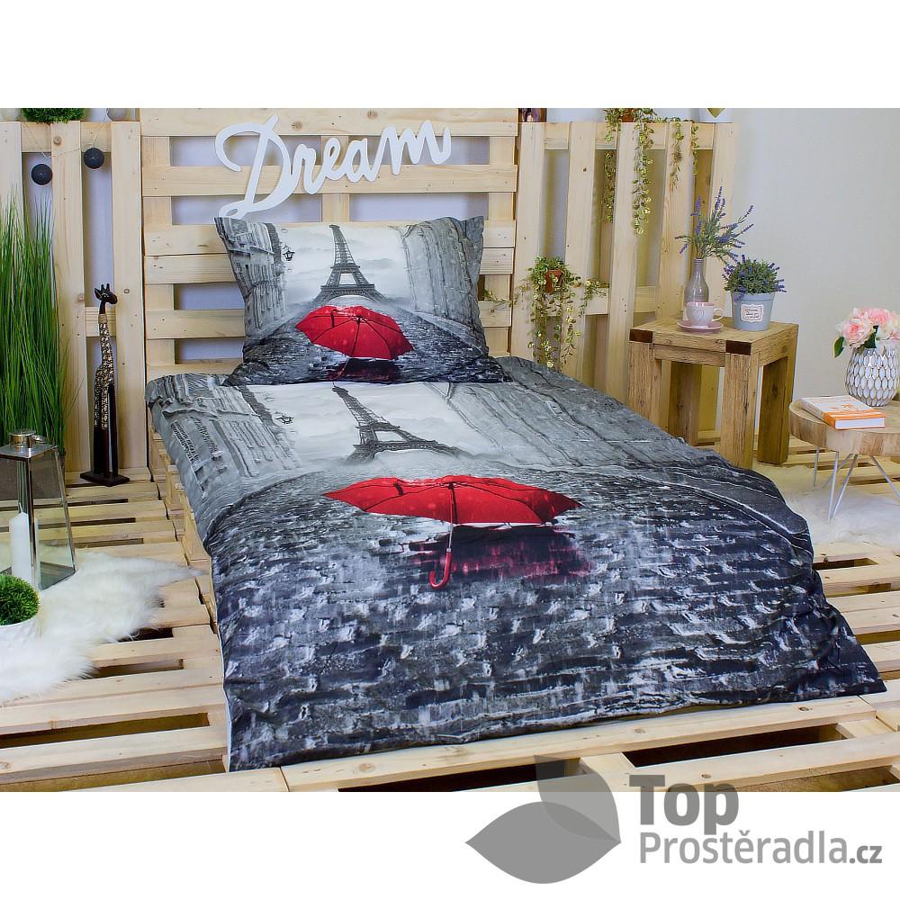 3D povlečení 140x200 + 70x90 - Paris Rain