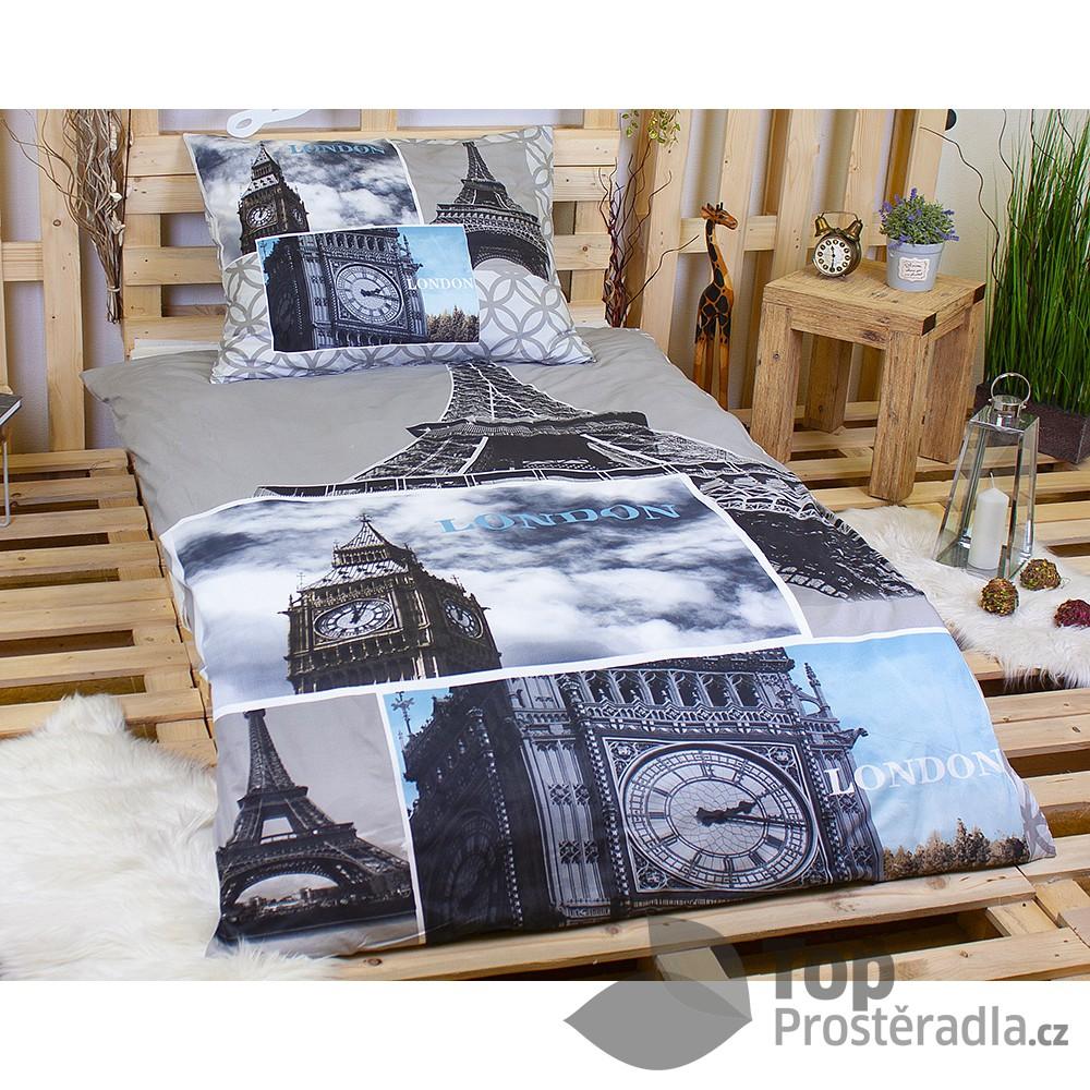 3D povlečení na dvě lůžka 140x200 + 70x90 - Paris-London