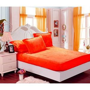 Mikroflanel prostěradlo (90 x 200) Elegance - Oranžová