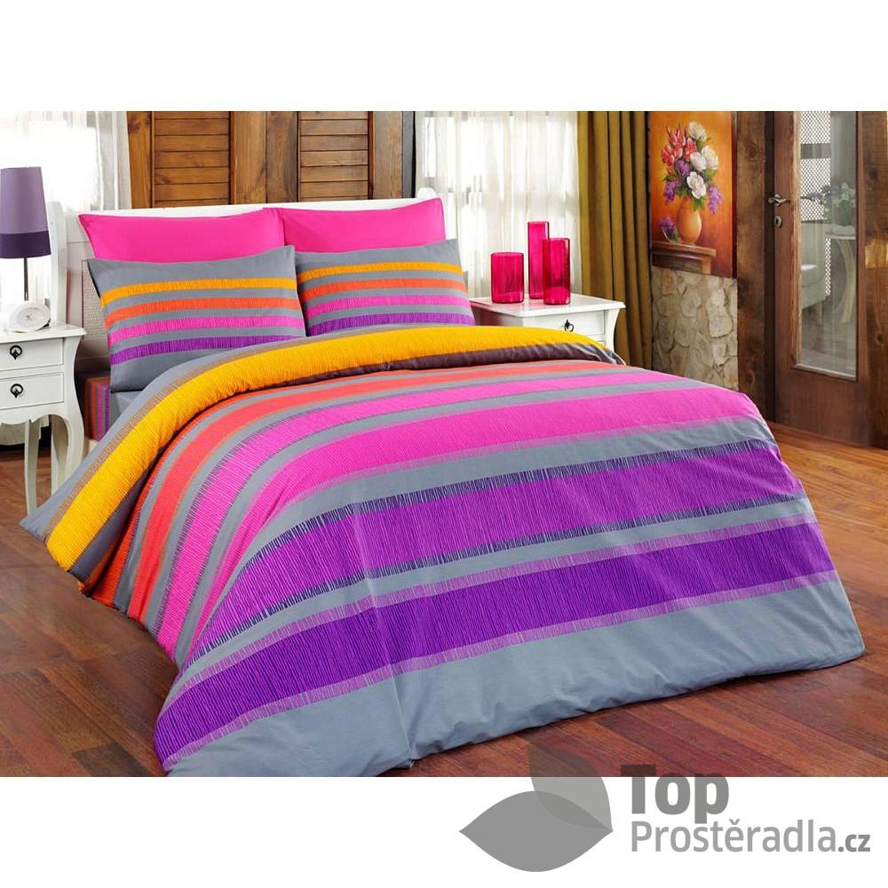 Top Bavlněné povlečení ELLE fialová 140x220+70x90