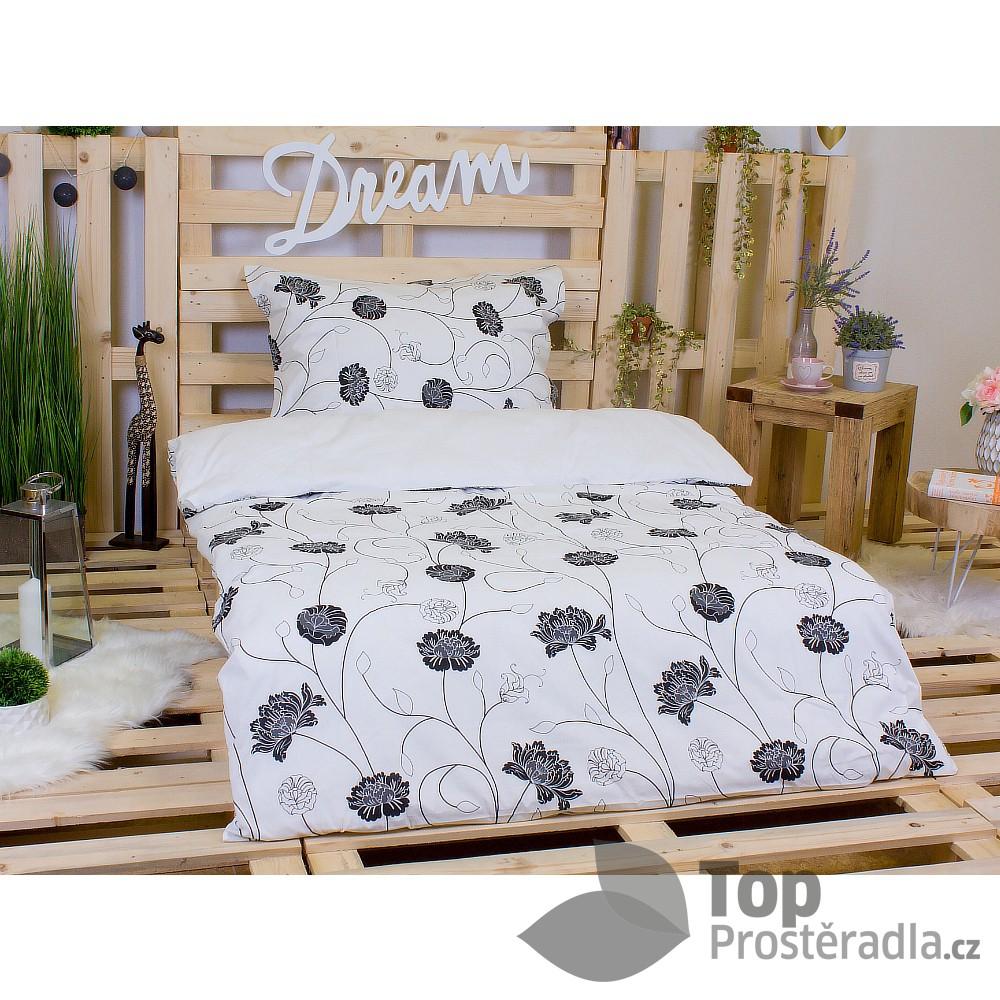 TOP Bavlněné povlečení Astra černo-bílá 140x200+70x90