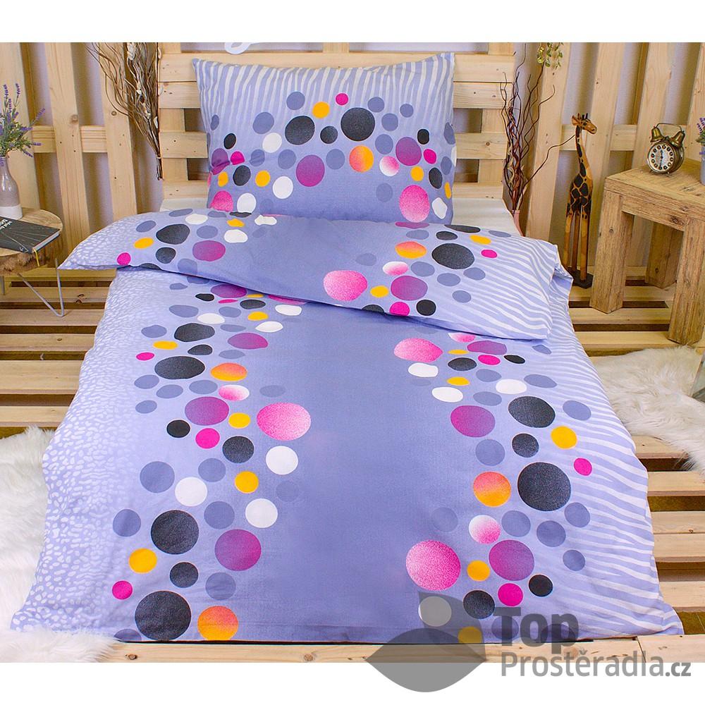 TOP Krepové povlečení puntíky barevné 140x220 70x90