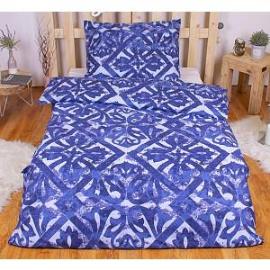 Bavlněné povlečení PORTO modré 140x200+70x90
