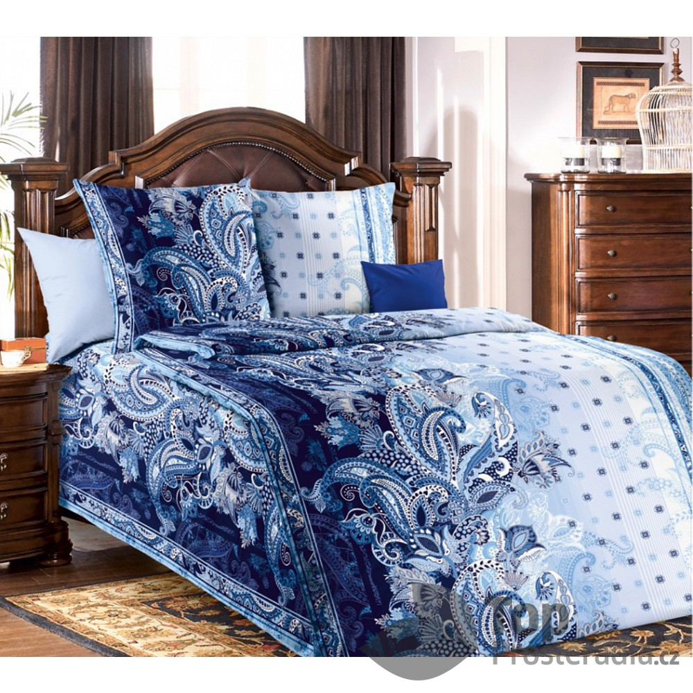 Top Bavlněné povlečení Royal blue 140x220 70x90