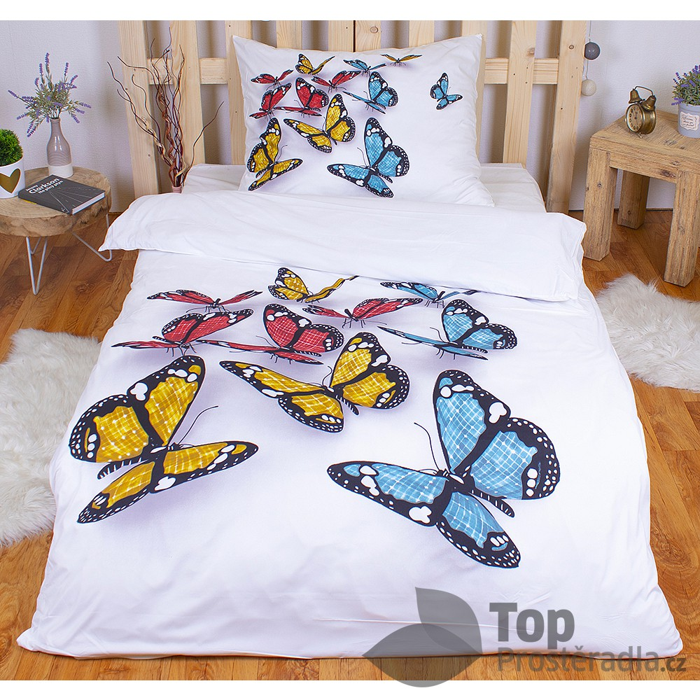 TP 3D povlečení 140x200 + 70x90 - Motýli