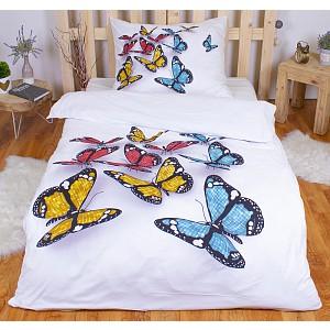 3D povlečení 140x200 + 70x90 - Motýli