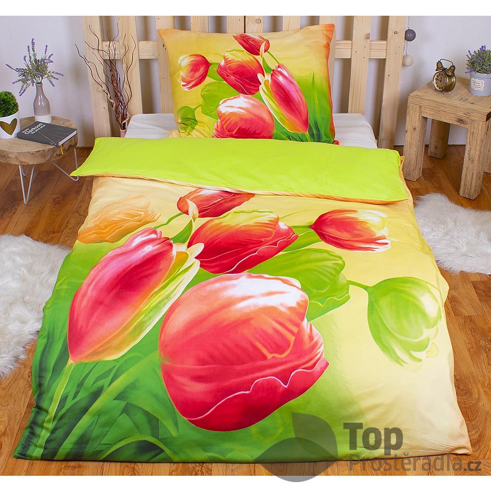 TP 3D povlečení 140x200 + 70x90 - Tulipány