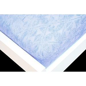 Žakárové prostěradlo (90 x 200) Premium - Nebeská modř