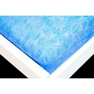 Žakárové prostěradlo (90 x 200) Premium - Modrá